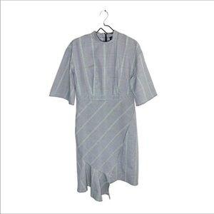 WHO WHAT WEAR Cute Gray Ruffle Dress Size XL